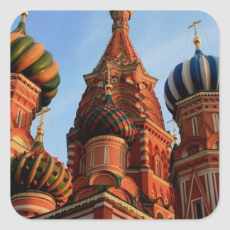 Cathédrale Russie de basilic de St Sticker Carré
