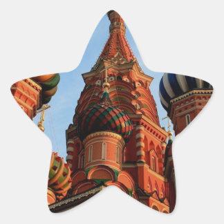 Cathédrale Russie de basilic de St Sticker Étoile