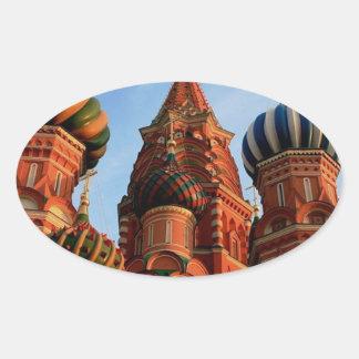 Cathédrale Russie de basilic de St Sticker Ovale