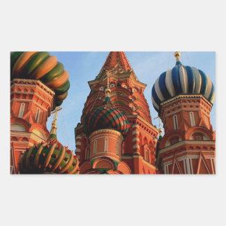 Cathédrale Russie de basilic de St Sticker Rectangulaire