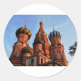 Cathédrale Russie de basilic de St Sticker Rond