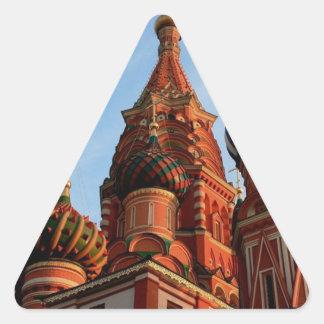 Cathédrale Russie de basilic de St Sticker Triangulaire