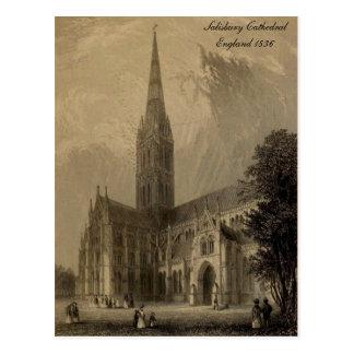 Cathédrales des séries de l'Angleterre : Salisbury Carte Postale