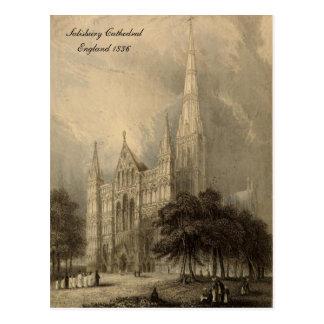 Cathédrales des séries de l'Angleterre : Salisbury Cartes Postales