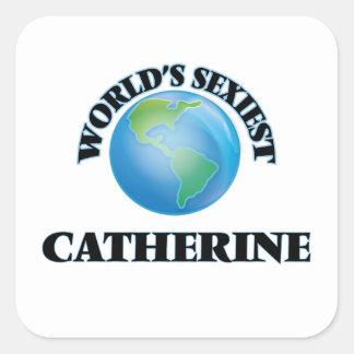Catherine la plus sexy du monde stickers carrés