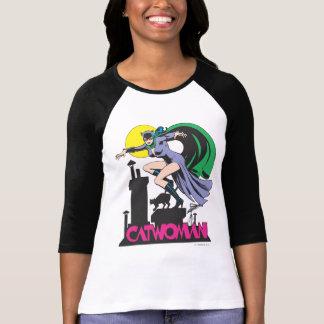 Catwoman et rose de logo t-shirt