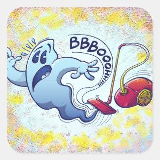 Cauchemar d'aspirateur de fantôme stickers carrés