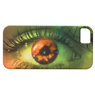 Cauchemar vert personnalisable de Halloween Coque Barely There iPhone 5