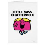 Causerie avec petite Mlle Chatterbox Carte De Vœux
