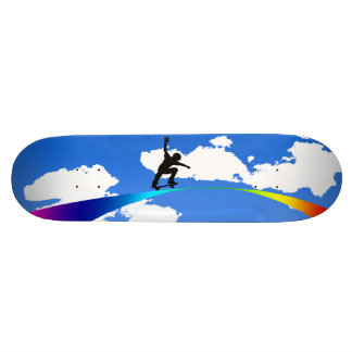 Cavalier d'arc-en-ciel skateboard customisable