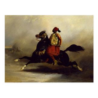 Cavalier de Nubian au galop Carte Postale