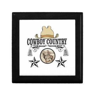 cavalier de pays de cowboy petite boîte à bijoux carrée