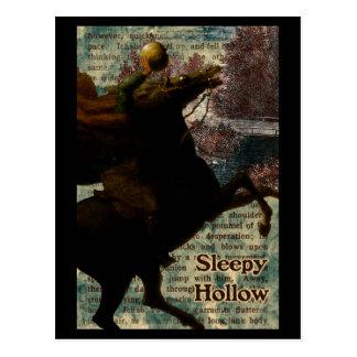 Cavalier sans tête creux somnolent carte postale