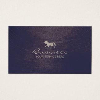 Cavalier violet équin moderne d'équitation cartes de visite