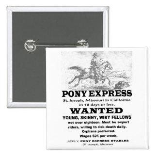 Cavalier voulu de Pony Express Pin's