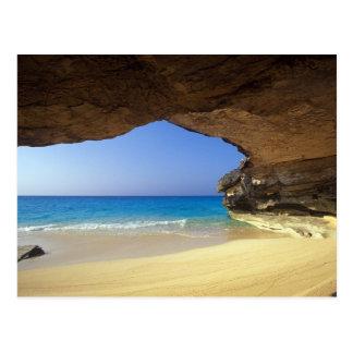 Caverne à la baie française, île de San Salvador, Carte Postale