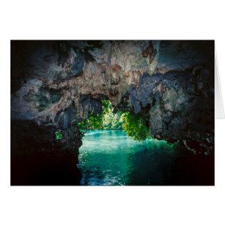 Caverne de batte dans Airai, Palaos, Micronésie Carte De Vœux