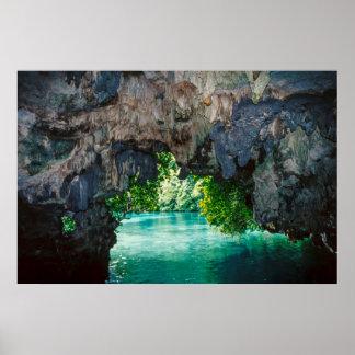 Caverne de batte dans Airai, Palaos, Micronésie Posters