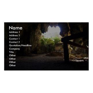 Caverne extraordinaire avec des aiguilles carte de visite