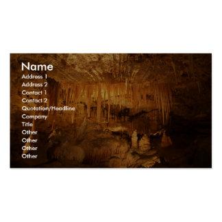 Caverne extraordinaire avec des aiguilles modèles de cartes de visite