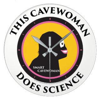 Cavewoman de Smart de la Science d'horloge murale Grande Horloge Ronde