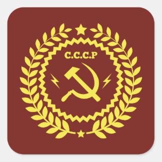 CCCP Hamer et autocollants de carré d'emblème de