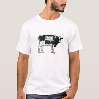 ce blanc de motif de vache à T-shirt de qualité