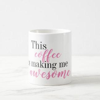 Ce café me fait la tasse impressionnante
