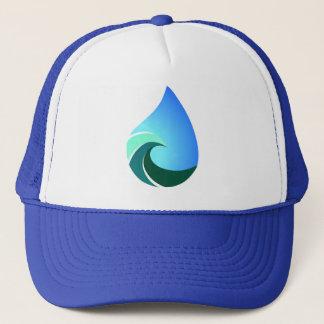Ce casquette bleu de camionneur de vague salée de