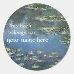 Ce livre appartient… aux ex-libris de beaux-arts adhésif rond