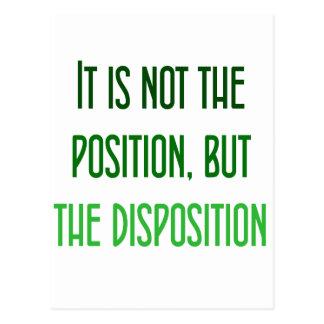 Ce n'est pas la la position, mais la disposition cartes postales