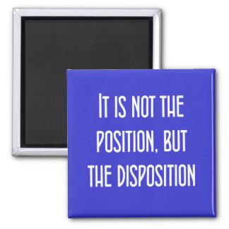 Ce n'est pas la la position, mais la disposition magnet carré