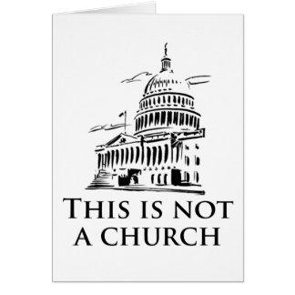 ce n'est pas une église carte de vœux