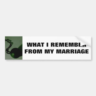 CE QUE JE ME RAPPELLE DE MON MARIAGE ADHÉSIF POUR VOITURE