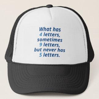 Ce qui a 4 lettres casquette