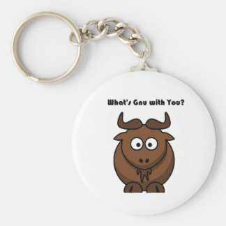 Ce qui est bande dessinée de Buffalo de gnou Porte-clés