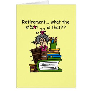 Ce qui est humour de retraite carte de vœux