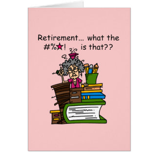 Ce qui est humour de retraite cartes de vœux