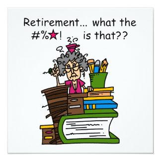 Ce qui est humour de retraite invitations