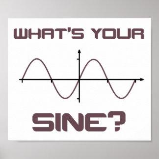 Ce qui est votre sinus ringard prenez la ligne affiches