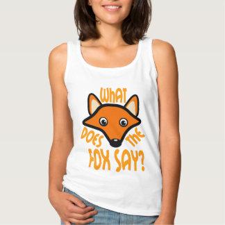 Ce qui fait le Fox pour indiquer Débardeur Basique