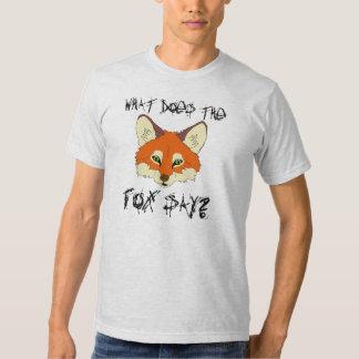 ce qui fait le renard dites t-shirt