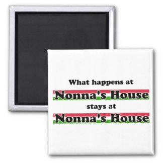 Ce qui se produit à la Chambre de Nonna Magnet Carré