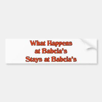 Ce qui se produit aux séjours de Babcia chez Autocollant Pour Voiture