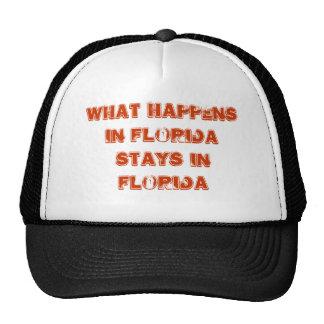 Ce qui se produit dans des séjours de la Floride e Casquette De Camionneur