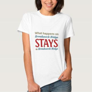 Ce qui se produit sur Ridge casse-cou T-shirts