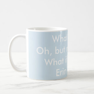 Ce qui si je tombe - citation d'Erin Hanson (mots Mug