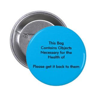 Ce sac est bouton nécessaire badges