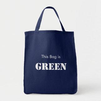 Ce sac est vert (les couleurs foncées)