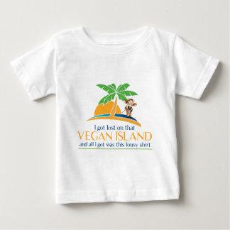 Ce T-shirt végétalien de souvenir d'île